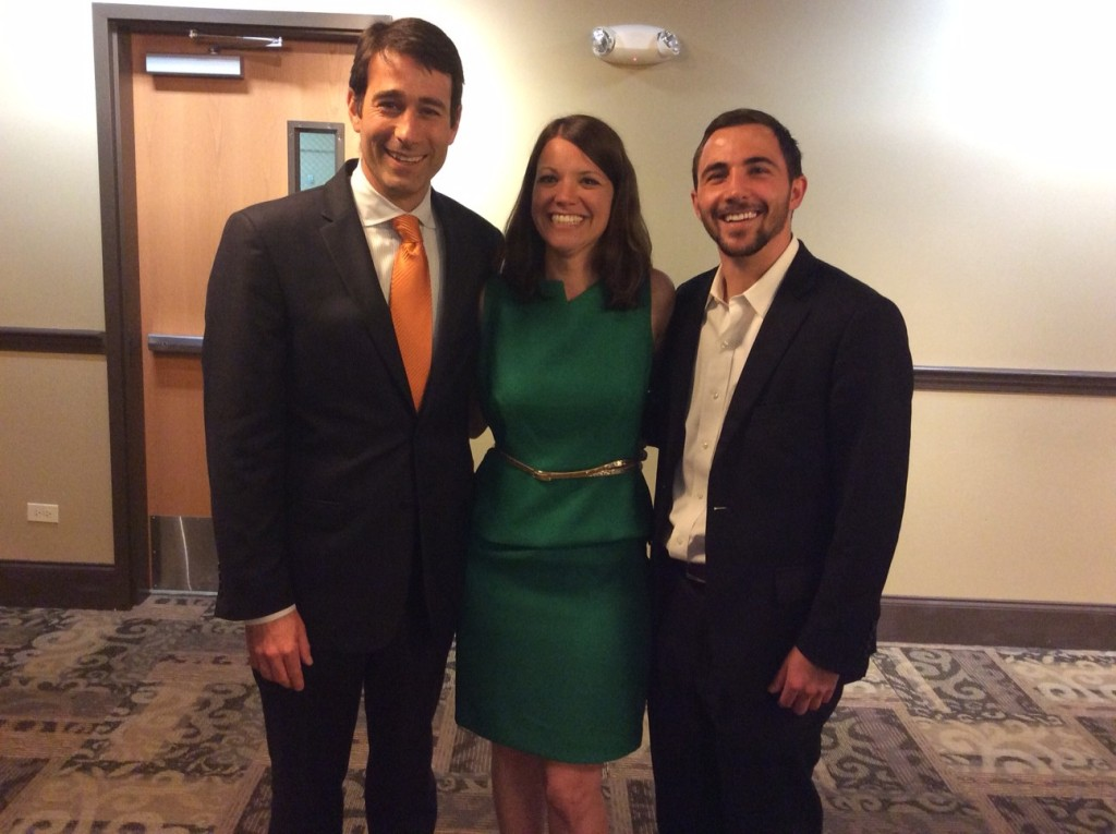 ROR's Annual Meeting featured Congressman Garret Graves, pictured here with ROR Executive Director Simone Maloz and Outreach Coordinator John Lombardo.